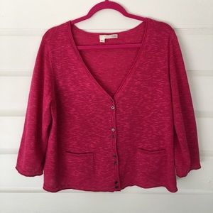 Eileen Fisher 3/4 Sleeve Pink Cardigan Sweater